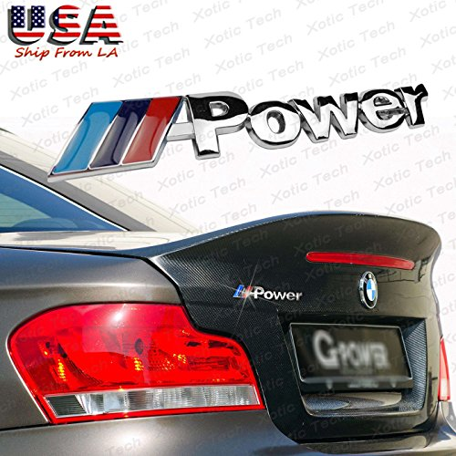 BMW M Power Performance Front Rear Metal Emblem Chrome Badge (Bmw Sticker Emblem Front)