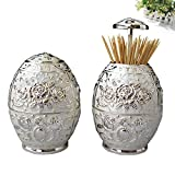 European-style pressing style toothpick automatic toothpick box fashion creative living room toothpick barrel-C