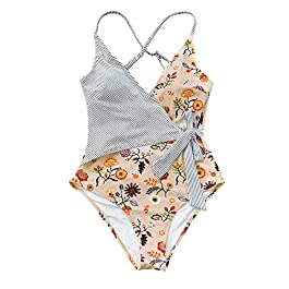 CUPSHE Women's Stay Young One Piece Swimsuit Beach Swimwear