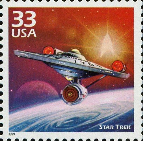 STAR TREK The Starship Enterprise NCC-1701 US Postage Stamp Scott #3188e