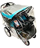 Sasha's Rain and Wind Cover for Baby Trend Navigator & Navigator Lite Double Jogger Strollers