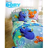 Disney Pixar Finding Dory Twin Sized 4 Piece Bedding Set - Reversible Comforter and Sheet Set