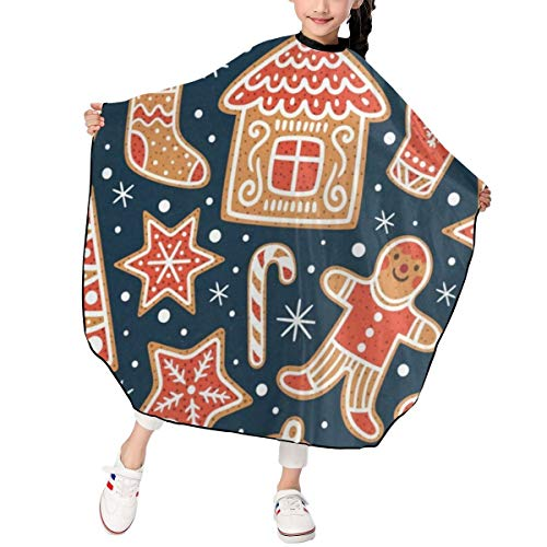 Haircut Cape Christmas Awesome Snowman Stock Customized Hairdressing Apron Polyester Water Resistant Hair Cutting Cape for ()