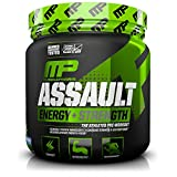 Musclepharm Assault Sport Nutrition Powder, Blue Raspberry, 30 Count