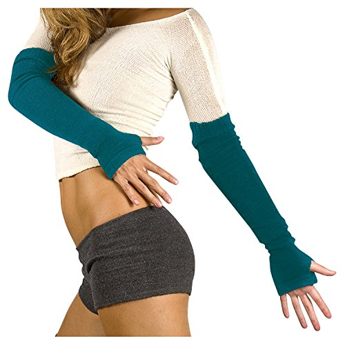 outlet store 8a8b9 330e4 Teal Arm Warmers by KD dance New York Warm Cozy Stretch Knit Thumb Hole  Made In