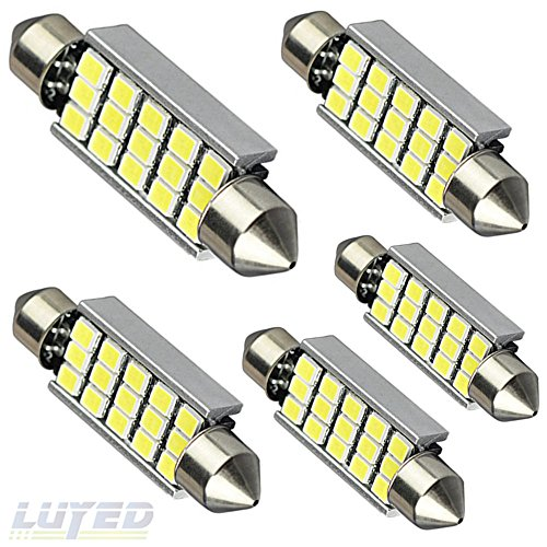 LUYED 5 X 360 Lumens Super Bright 2835 15-EX Chipsets 569 578 211-2 212-2 LED Bulbs Used For Dome light,Xenon White