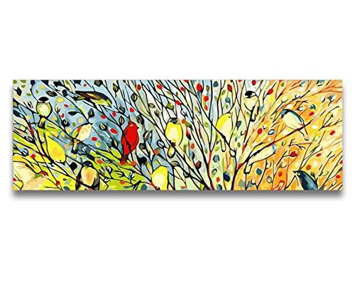 YKCKSD Lebensraum Digital Malen Nach Zahlen Mit Kits Waldzweig Vögel Elstern Wandbilder Für Wohnzimmer Modulare Malerei Hoom Decor 30X90Cm B07KG7YJLN | Shopping Online