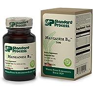 Standard Process - Manganese B12 - Supports Normal Tissue Repair Process and Connective Tissue, Provides Antioxidant Vitamin C, Vitamin B12, Iron, Zinc, Copper, Manganese, Gluten Free - 90 Tablets
