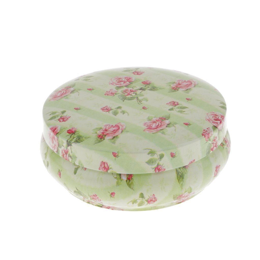 Sky Fish Floral Cans Tinplate Cans Tea Container Sugar Cans Sealed Cans Apply to tea and candy or biscuits and so on Printed with a rose pattern Round