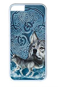 Celtic Wolf Polycarbonate Hard for Case For Iphone 6 4.7 Inch Cover inch White