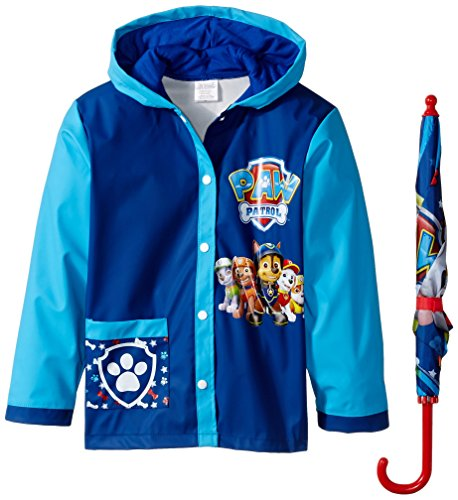 Nickelodeon Little Boys Paw Patrol Slicker and Umbrella, Multi, Small/Medium