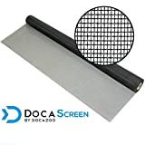 "DocaScreen Standard Window Screen Roll – 48"" x 100' Fiberglass Screen Roll – Window, Door and Patio Screen – Insect Screen//Fiberglass Screening//Screen Replacement//Window Screens"