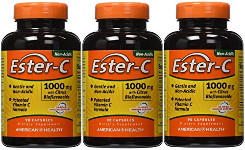 (Ester-C 1000 mg with Citrus Bioflavonoids American Health Products 90 Caps, 3 Count)