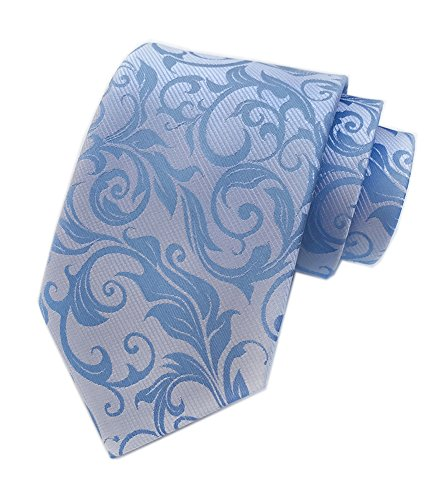 Men's Silver Blue Ties Banquet Summer Beautiful Neckties Gift Ideal for Husband by Elfeves (Image #2)