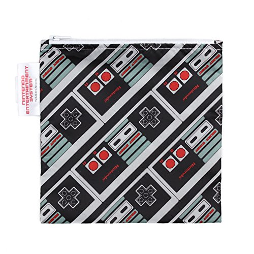 Bumkins Nintendo Reusable Snack Bag Large, NES Controller