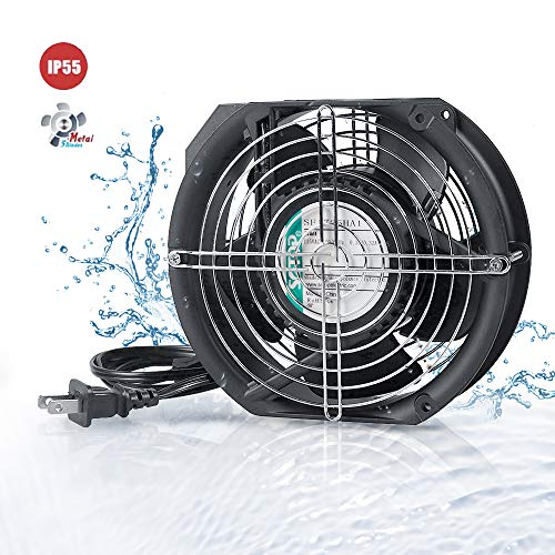 SOTOP IP55 Waterproof Metal Blades Axial Fan, 115V AC 172mm x 150mm x 51mm High Speed, for DIY Cooling Ventilation Exhaust Projects