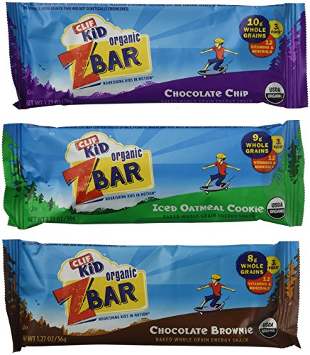 - CLIF Kid Organic ZBar Baked Whole Grain Energy Snack, Variety Pack (36 bars)