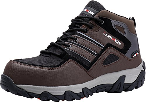 LARNMERN Safety Work Shoes For Men Slip Resistant, LM-09 Steel Toe Outdoor Ankle Boots