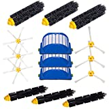 I-clean High Quality Bristle & Flexible Beater Brush 3-Armed&Brush 6-Armed &Aero Vac Filters kit for iRobot Roomba 760 770 790 620 630 650 660