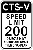 Metal Signs Cadillac Cts-V Speed Limit Sign - 12 X 18 Inches