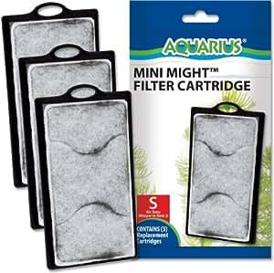 AQUARIUS 3-Pack Mini Might Filter Replacement Cartridge for Aquarium