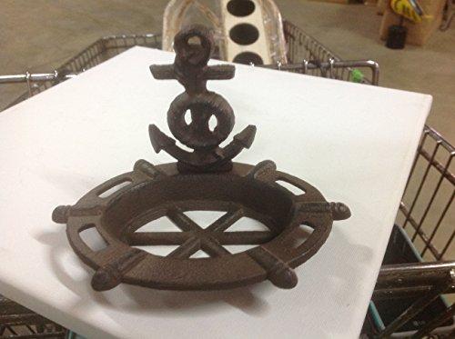 Nautical Cast Iron Anchor Soap Dish - Rust Brown