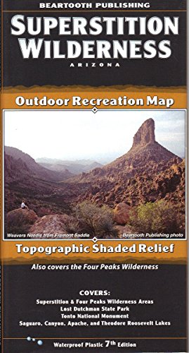Superstition Wilderness Outdoor Recreation Map Topographic Shaded Relief ()