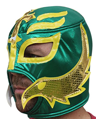 Libre Adult Luchador Mexican Wrestling Mask Costume (Rey Mysterio (Green)) (Rey Mysterio Wrestling Mask)