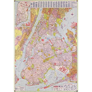 Amazoncom Map Poster Street Map New York City X - New york city map streets