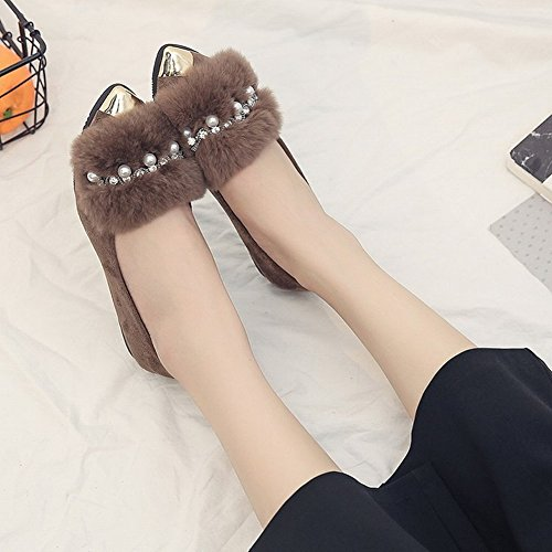 Blush Shoe Bows Single Shirt Mujer Bottom Flat Lazy Shoes Scoop Shoes , verde , EUR 35.5