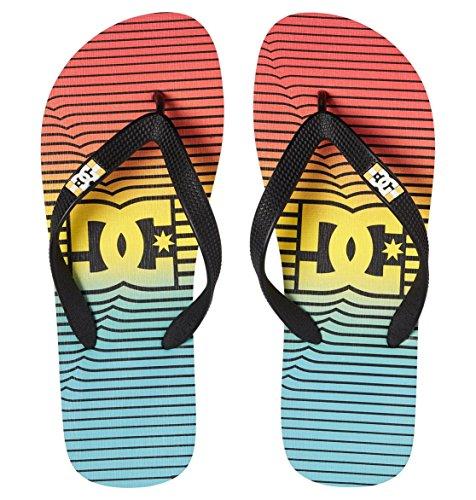 Graffik Citrus caucho para hombre de Chanclas Blue Spray Stripe DC Olmpian D0303276 Shoes 6x1wfvpqE