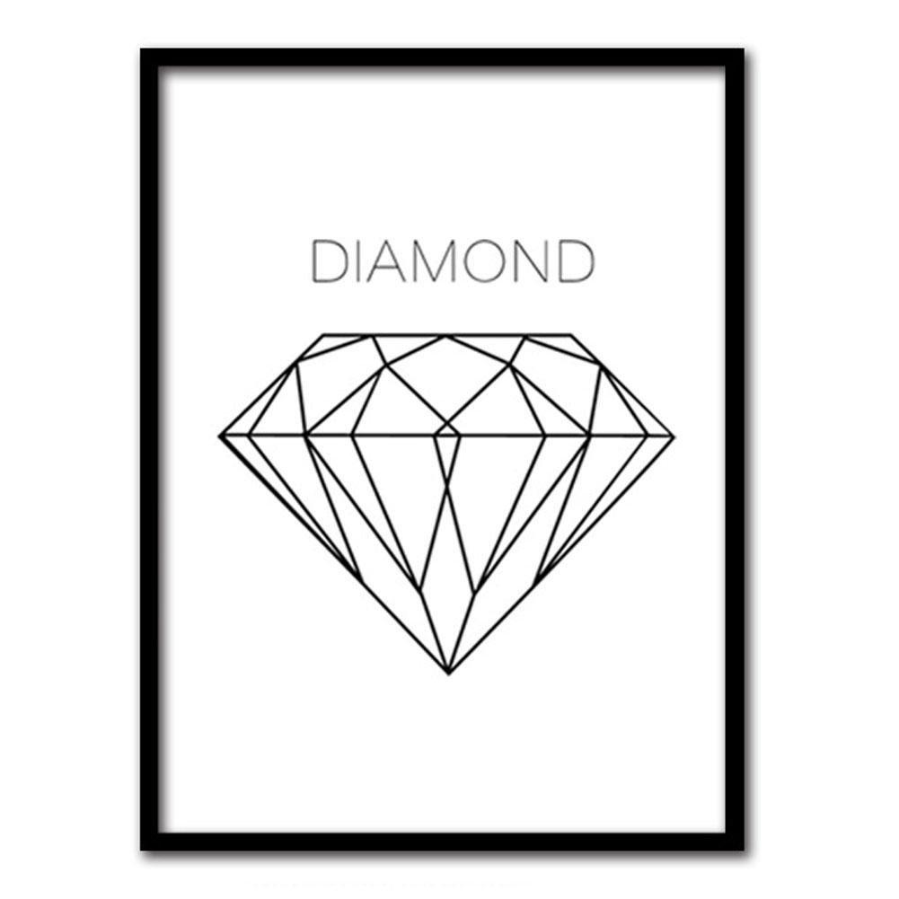 Stampe su tela dipinti ad olio moderna della parete di arte su tela paesaggi dalla mano della decorazione Diamanti di linea CP120 , A , 30*25CM MINRAN DECOR