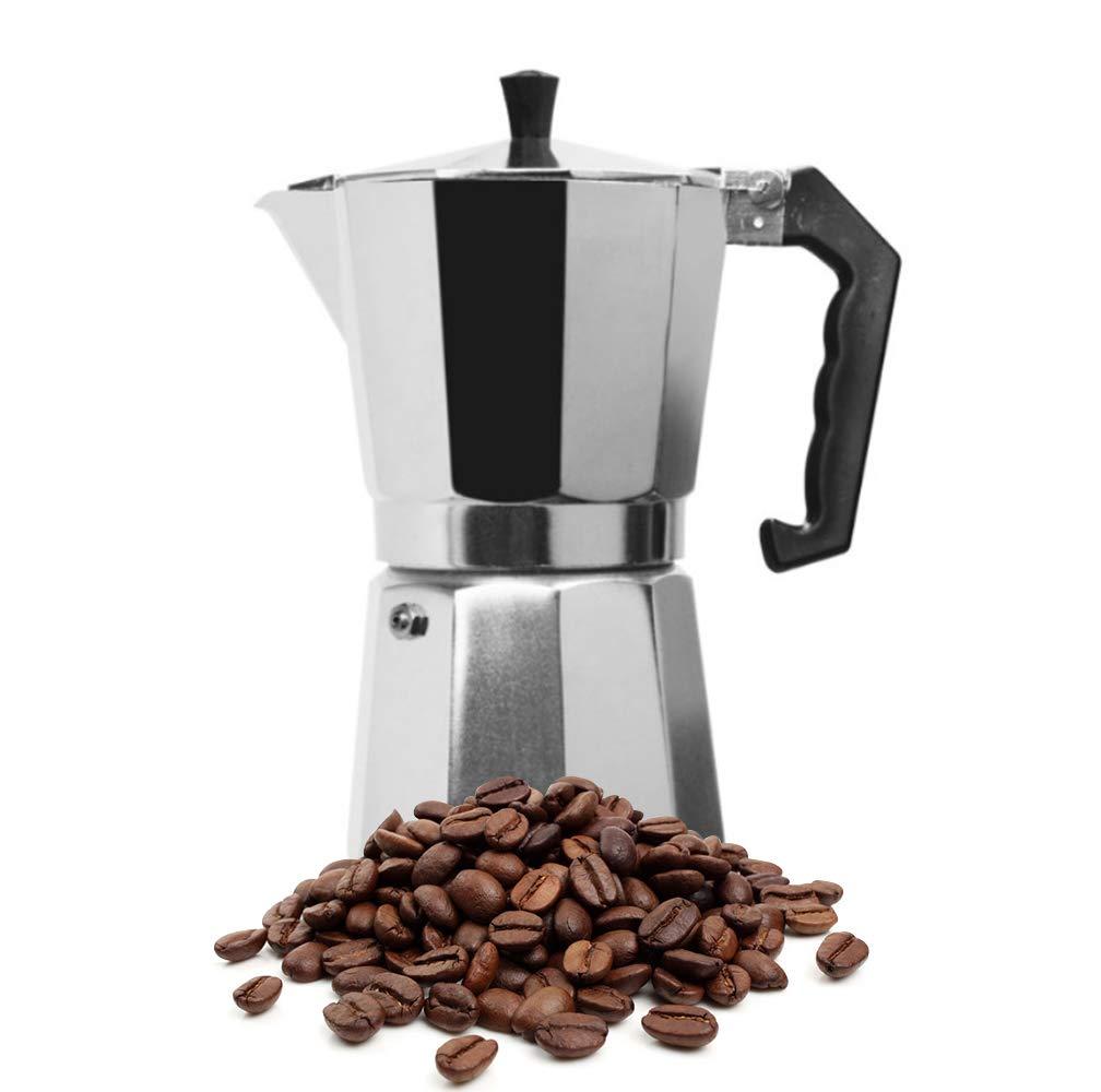 KIKIGOAL Stovetop Coffee Maker, Aluminum Italian Moka Pot (12 CUP)