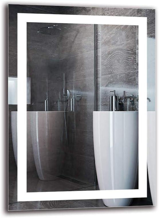 Espejo LED Premium - Dimensiones del Espejo 50x70 cm - Espejo de baño con iluminación LED - Espejo de Pared - Espejo de luz - Espejo con iluminación - ARTTOR M1CP-47-50x70 -