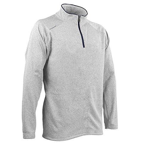 Sun Mountain Heathered Fleece Golf Pullover Titanium/Navy X-Large ()