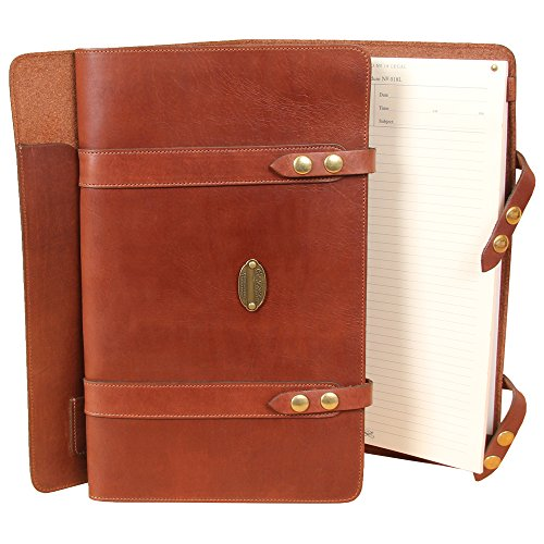 Leather Business Legal Sized Portfolio Notebook Folio Brown USA Made No. 18L
