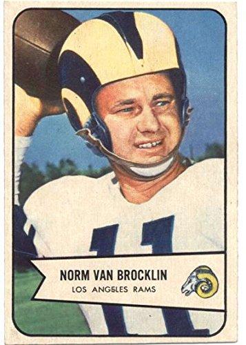 1954 Bowman #8 Norm Van Brocklin LA Rams NFL Football Card EX Excellent ()