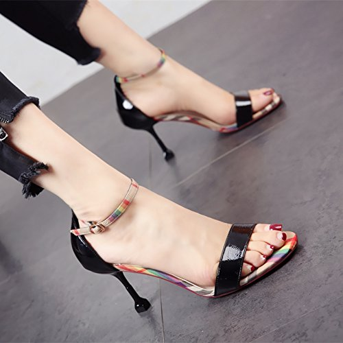 tacco scarpe estate alti con moda la sandali di ladies' caviglia e YMFIE alla dita In scarpe alto cinghia b tacchi A7wnOP