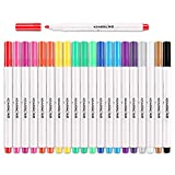 Lightwish Paint Marker Permanent Fabric Pen Marker-Assorted Colors, Pack of 20, Child safe & non-toxic