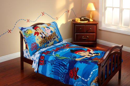 Disney Jake and the Neverland Pirates 4 Piece Toddler Bedding (Jake And The Neverland Pirates Cubby)