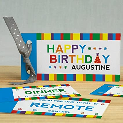 amazon com personalized happy birthday coupon book pack of 12