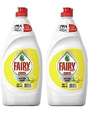 Fairy Plus Lemon Dishwashing Liquid Soap With Alternative Power To Bleach, 2 x 600 ml '