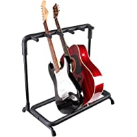 Yescom 5 Five Multiple Guitar Folding Stand Bass Acoustic Guitar Holder Rack Display Guitar Stand