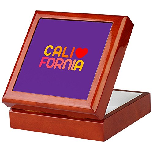CafePress - California - Keepsake Box, Finished Hardwood Jewelry Box, Velvet Lined Memento Box