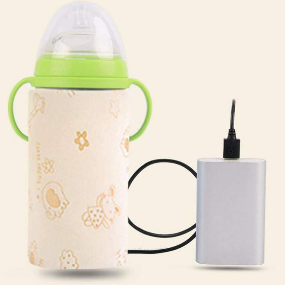 Yellow Car Baby Bottle, Portable USB Warmer Water Bottle Bag Heating Baby Milk Water Travel Heater