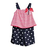 Image of Good Lad July 4th Knit Romper Set (4T)