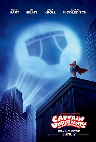 CAPTAIN UNDERPANTS (2017) Original Movie Promo Poster - 13.5 x 20 - Dbl Sided - Kevin Hart - Ed Helms - Nick Kroll - Thomas Middleditch