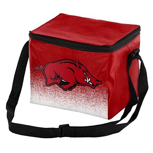 NCAA College Team Logo - Gradient Print - Lunch Bag Cooler - Holds up to a 6 Pack(Arkansas - Arkansas Ice Razorbacks