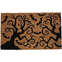 Non-Slip Outdoor/Indoor Halloween Door Mat -Bats & Trees