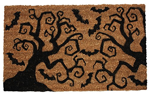 Natural Coir Coco Fiber Non-Slip Outdoor/Indoor Halloween Doormat, 16X28